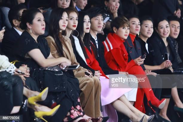 Film producer Charles Heung WahKeung's wife Tiffany Chen actress Li Xiaolu actress Angelababy actress Fan Bingbing and actor Jing Boran watch the M77...