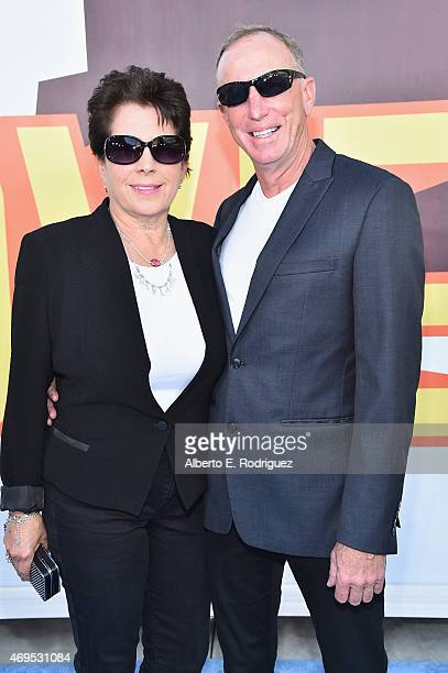 Film producer David Lancaster and Karen Lancaster attend The 2015 MTV Movie Awards at Nokia Theatre LA Live on April 12 2015 in Los Angeles California