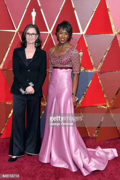 Film producer Donna Gigliotti and writer Margot Lee Shetterly attends the 89th Annual Academy Awards at Hollywood Highland Center on February 26 2017...