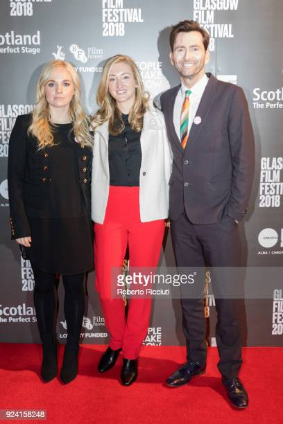 Film producer Georgia Moffett director Daisy Aitkens and actor David Tennant attend the European Premiere of 'You Me and Him' during the 14th Glasgow...