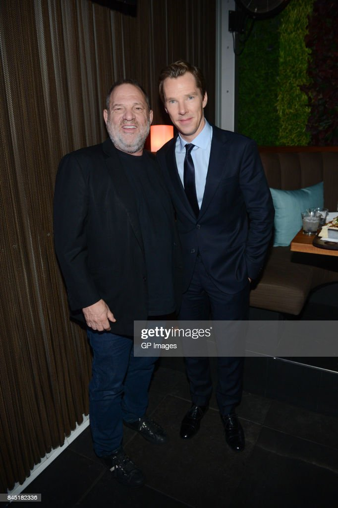 Film Producer Harvey Weinstein and Actor Benedict Cumberbatch attend Alfonso Gomez-Rejon's 'The Current War' TIFF Premiere Party Hosted by Cactus Club Cafe And Johnnie Walker Black Label at First Canadian Place on September 9, 2017 in Toronto, Canada.