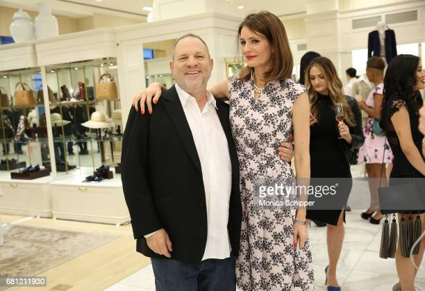 Film producer Harvey Weinstein and author Plum Sykes attend Book Launch Party for Plum Sykes' Party Girls Die In Pearls hosted by Brooks Brothers and...