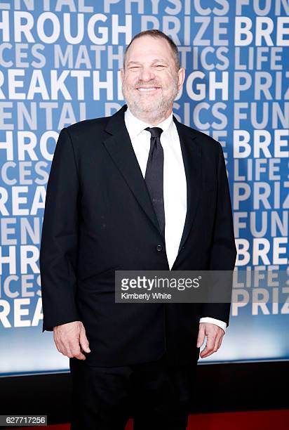 Film Producer Harvey Weinstein attends the 2017 Breakthrough Prize at NASA Ames Research Center on December 4 2016 in Mountain View California