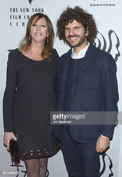 Film producer Jane Rosenthal and guest attend the 2017 New York Film Critics Awards at TAO Downtown on January 3 2018 in New York City