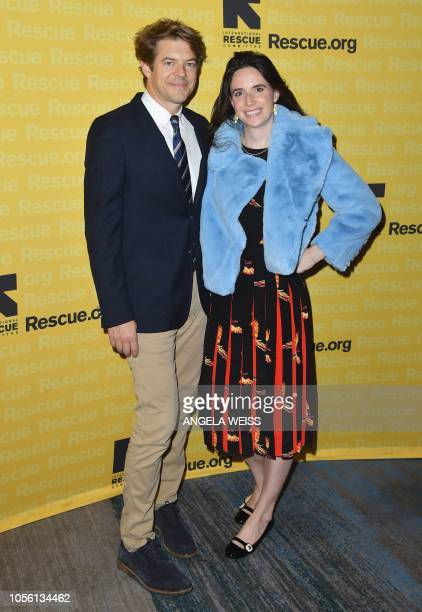 Film producer Jason Blum and his wife journalist Lauren BlumSchuker attend the 2018 Rescue Dinner hosted by IRC at New York Hilton Midtown on...