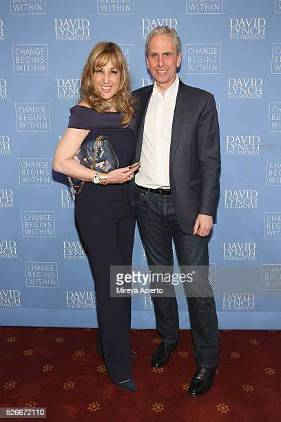 Film producer Joanna Plafsky and Executive Director of the David Lynch Foundation Bob Roth attend An Amazing Night of Comedy A David Lynch Foundation...