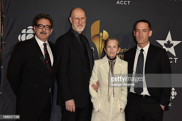 Film Producer Jody Colero Actor James Cromwell Actress Genevieve Bujold and Film Producer Michael McGowan arrive at the Canadian Screen Awards at the...