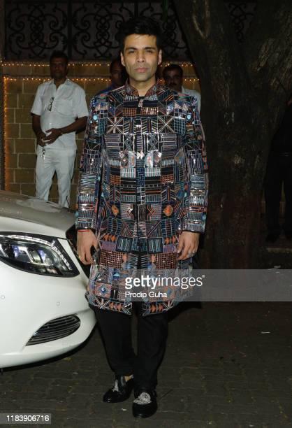 Film producer Karan Johar attends the Diwali Bash hosted by Actress Sonam Kapoor on October 27, 2019 in Mumbai, India.