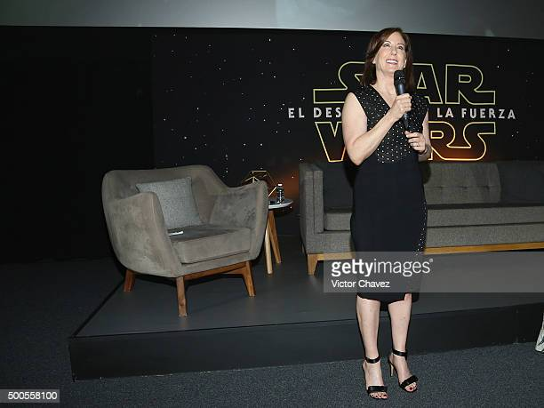Film producer Kathleen Kennedy attends the Star Wars The Force Awakens Mexico City premiere fan event at Cinemex Antara Polanco on December 8 2015 in...