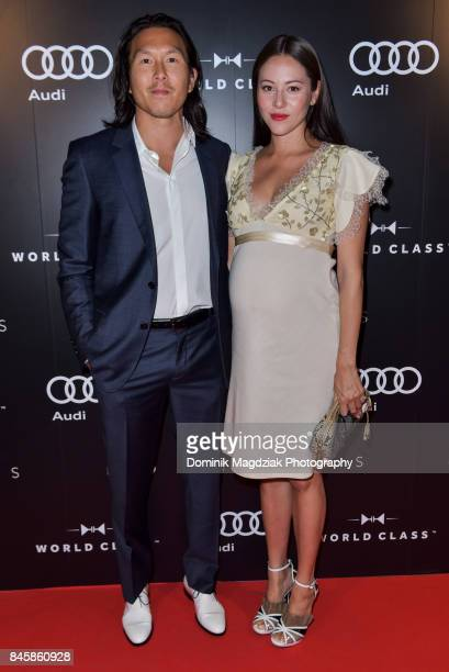 Film producer Ken Kao and wife Jessica Michibata attend the Diageo World Class Canada and Audi 'Hostiles' premiere party during the 2017 Toronto...