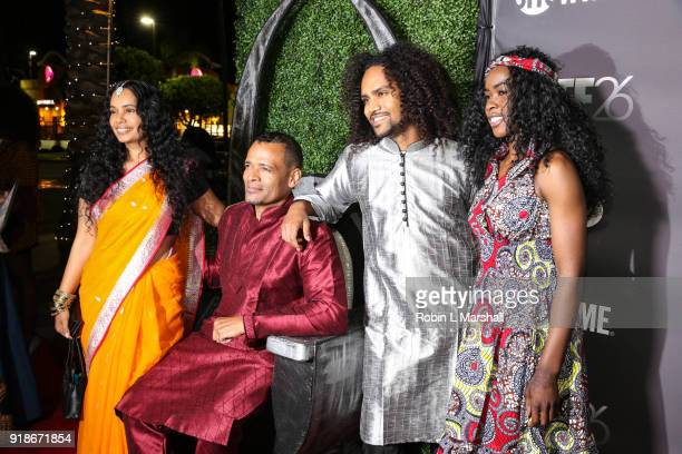 Film Producer Mario Van Peebles and family attend the Pan African Film Festival Red Carpet and Screening of the 'Black Panther' Movie at Cinemark...