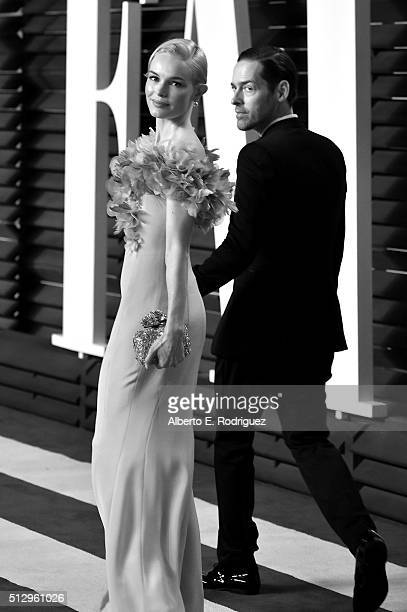 Film producer Michael Polish and actress Kate Bosworth attend the 2016 Vanity Fair Oscar Party hosted By Graydon Carter at Wallis Annenberg Center...