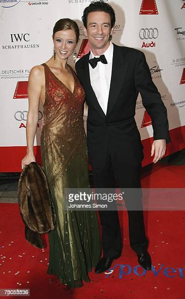 Film producer Oliver Berben and Nina Eichinger attend the 34th annual German Film Ball at the Bayerischer Hof Hotel January 20 2007 in Munich Germany