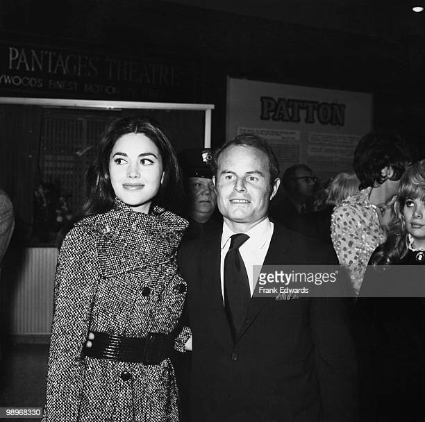 Film producer Richard Darryl Zanuck and his wife actress Linda Harrison attend the premiere of 'Patton' at Pantages Theatre Hollywood 18th February...