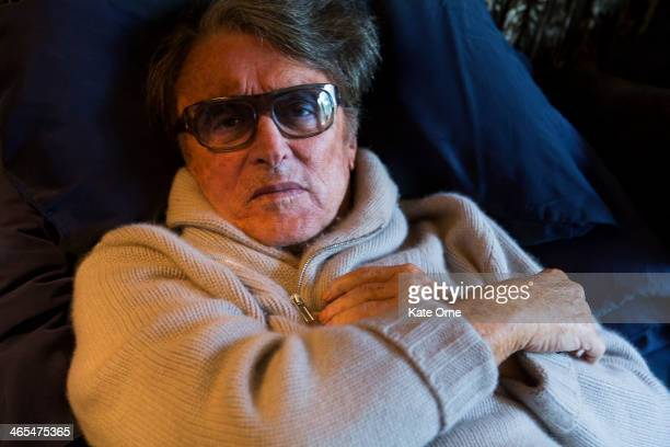 Film Producer Robert Evans is photographed at home for Self Assignment on March 19 in Beverly Hills California