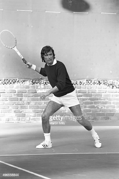 Film producer Robert Evans plays tennis circa 1970