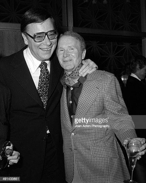 Film producer Ross Hunter with comedian actor Red Buttons attend a showing of the television movie 'A Family Upside Down' at the Directors' Guild...