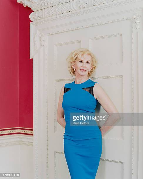 Film producer Trudie Styler is photographed for the Telegraph on December 19 2014 in London England