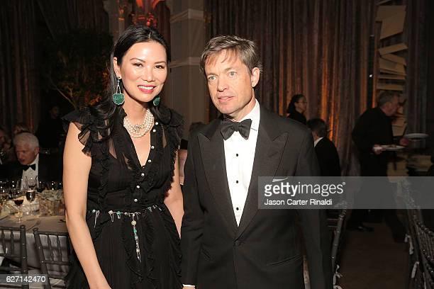 Film Producer Wendi Murdoch and Nicolas Berggruen attend The Berggruen Prize Gala Honoring Philosopher Charles Taylor at New York Public Library...