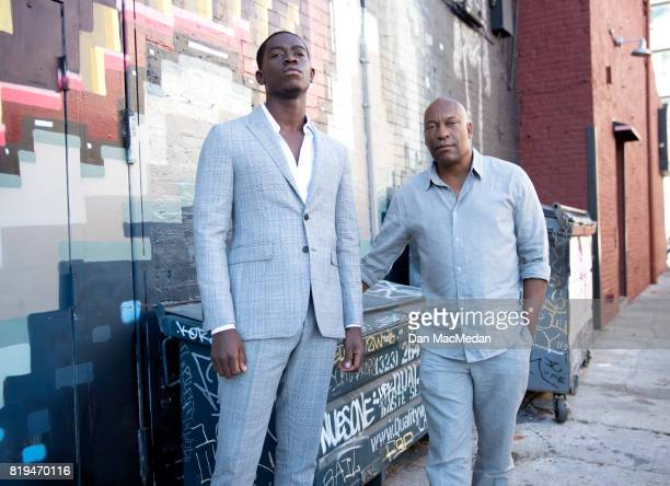 Film producer/director John Singleton and actor Damson Idris are photographed for USA Today on June 26 2017 in Los Angeles California