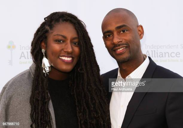 Film Producers Stacey King and Charles King attend the Independent School Alliance For Minority Affairs annual Impact Awards dinner at The Broad...