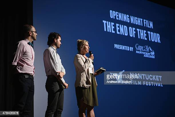 NFF Film Program Director Basil Tsiokos NFF Festival Producer Bill Curran and NFF Executive Director Mystelle Brabbee introduce the opening night...