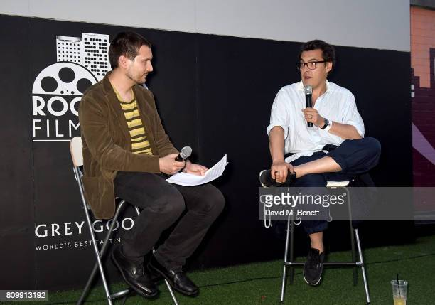 Film Programmer at Rooftop Film Club Owen Van Spall hosts a QA with director Joe Wright at the Pride Prejudice screening for Focus Features 15 Year...