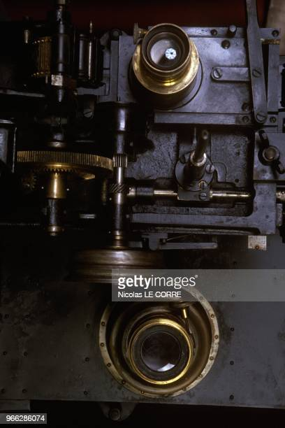Film Projector At 100th Anniversary Of Gaumont Exhibition Paris February 27 1995