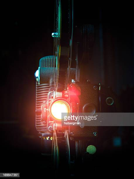 Film Projector with Lens Flare