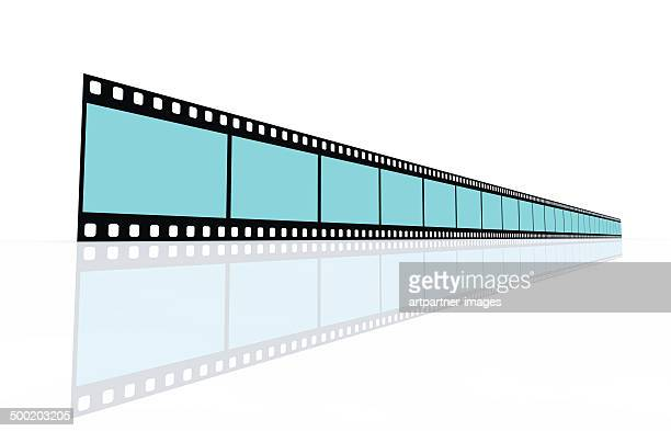 film reel or 35mm film on white - unbroken film stock pictures, royalty-free photos & images