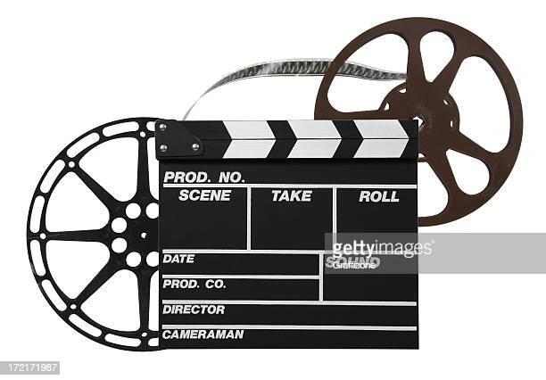 Film reels and clapper