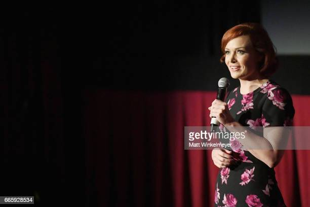 Film reporter Alicia Malone speaks onstage during the screening of Barefoot in The Park during the 2017 TCM Classic Film Festival on April 7 2017 in...