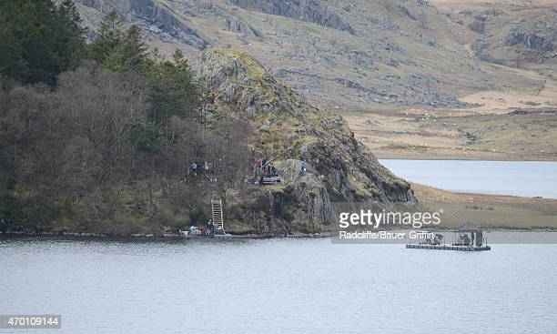Film set in Capel Curig Wales for the upcoming movie 'Knights of the Round Table' on April 17 2015 in London United Kingdom