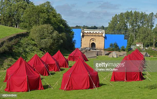 A film set is constructed for the Game of Thrones fantasy television series as filming for season six continues on September 28 2015 in Banbridge...