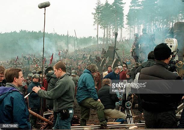 Film set of new movie Gladiator, being filmed at Bourne Wood.