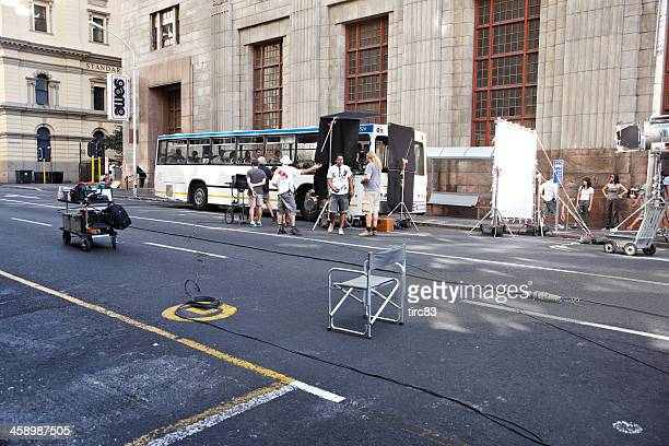 film set on cape town street - film set stock pictures, royalty-free photos & images