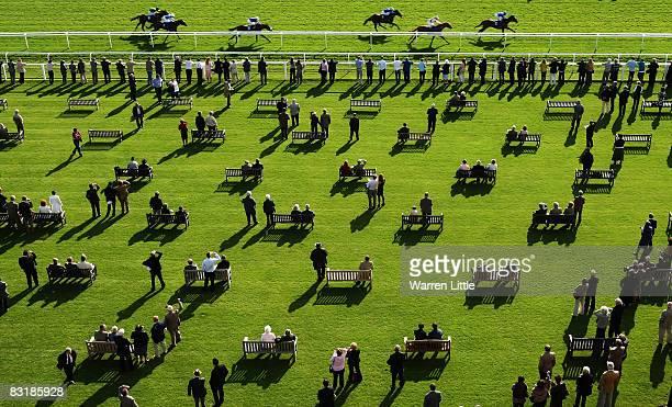 Film Set ridden by Frankie Dettori wins the Vodafone EBF Maiden Stakes at Newbury Racecourse on October 9 in Newbury England