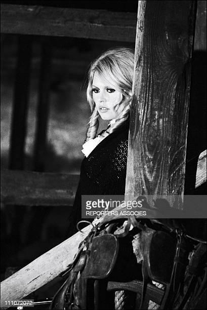 """Film """"Shalako"""" Of Edward Dmytryk: Brigitte Bardot In France On February, 1968"""