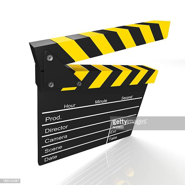 film slate clapboard - camera icon stock pictures, royalty-free photos & images