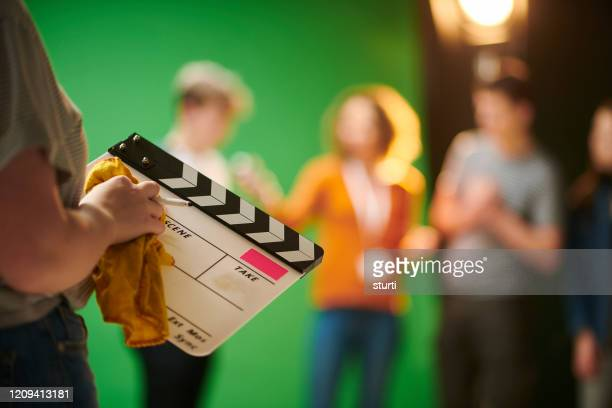 film slate in college - film industry stock pictures, royalty-free photos & images