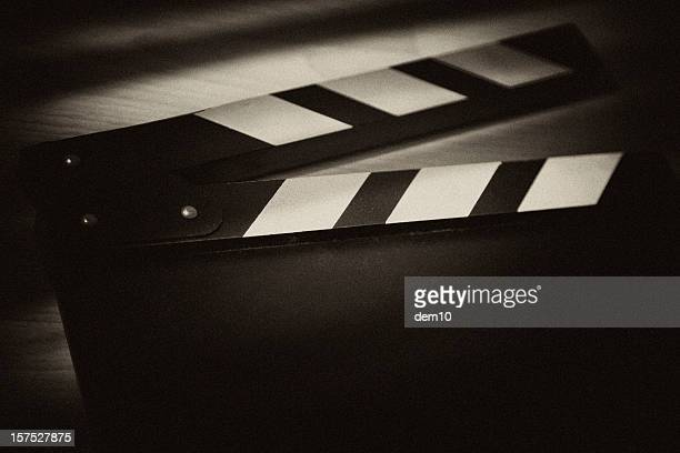 film slate - clapboard stock pictures, royalty-free photos & images