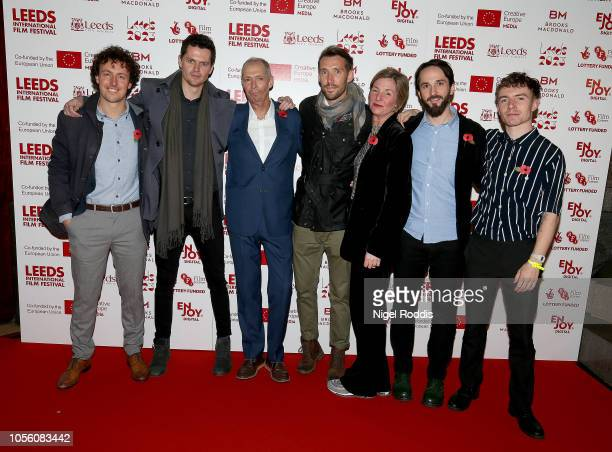 Film staff arrive for the Premier of Josh Warrington Fighting for a City at Leeds Town Hall on November 1 2018 in Leeds England
