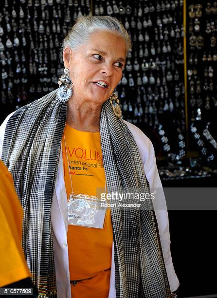 Film star Ali MacGraw works as a volunteer at the annual International Folk Art Market in Santa Fe New Mexico The actress is a resident of Santa Fe...