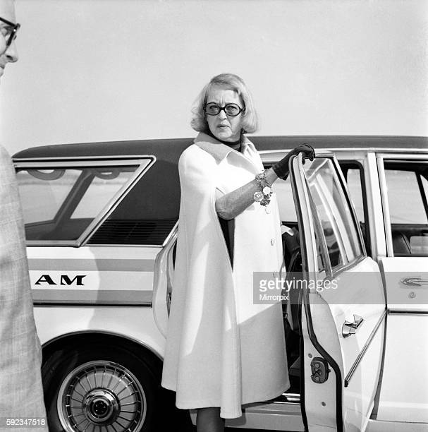 Film Star Bette Davis Arriving London Airport from the States She is here for two months to take part in the film 'Madam Sin' July 1971 716604003