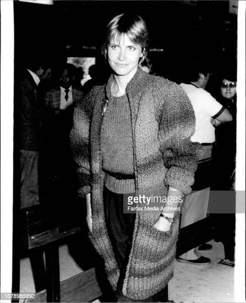 Film Star Cindy Pickett pictured at Sydney Airport today on her arrival in Australia amp visit Melbourne and promote her film Night Games Cindy is...