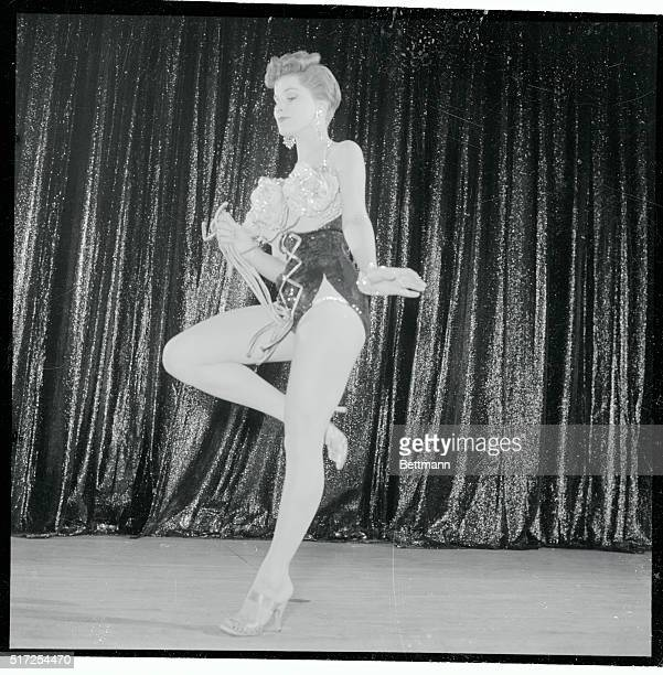 Film star Debra Paget, making her second night club appearance at the El Rancho, wears shorter hair and shorter costumes than the first time. She...