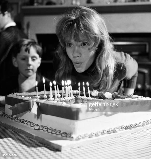 Film star Hayley Mills celebrates her 15th birthday at Pinewood Studios where she is filming 'Whistle Down the Wind' The studio presented Hayley with...