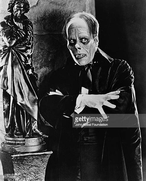 Film star Lon Chaney as Erik the 'Phantom' in a scene from 'Phantom of the Opera' directed by Rupert Julian for Universal