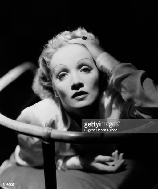 Film star Marlene Dietrich .