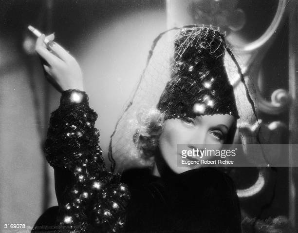 Film star Marlene Dietrich stars in the film 'Angel', directed by Ernst Lubitsch with costumes by Travis Banton.